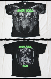 Overkill Shirt Allover Tour 2011