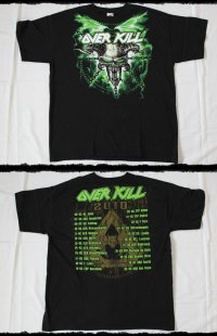 Overkill Shirt Ironbound Gearhead Tour 2010