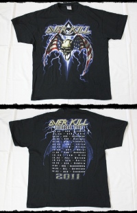 Overkill Shirt Ironbound  Tour  2011