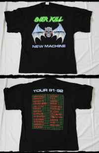 Overkill Shirt New Machine U.S.Tour 1992-93