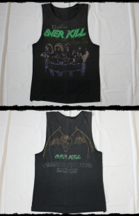 Overkill Shirt Taking Over Tour 1987