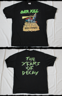 Overkill Shirt The Years Of Decay Skullkrusher 1989