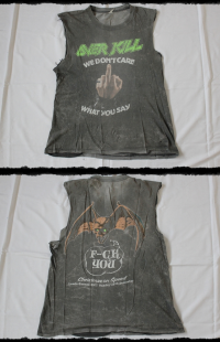 Overkill Shirt We Don_t Care...Fuck You! Tour 1987