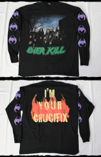 Overkill Shirt  I_m Youre Crucifix LS Tour 1996
