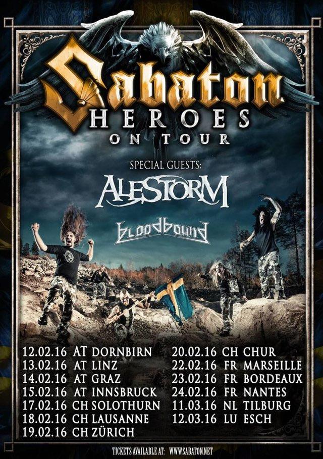 Sabaton Alestorm Tour