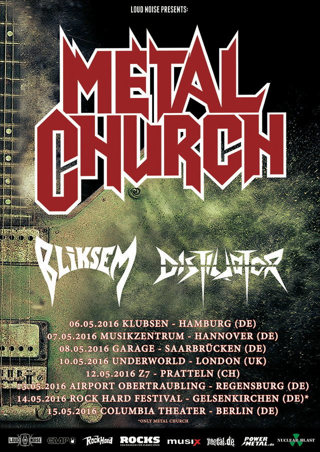 2016-05-06 Metal Church - Tickets und Tour-Termine für Mai 2016