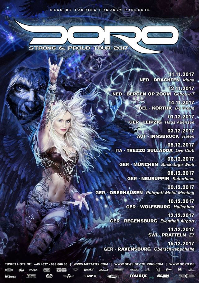 DORO - alle Termine für die 'Strong & Proud'-Tour 2017 - Tickets!