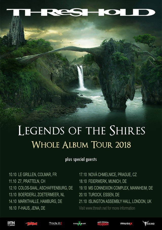 THRESHOLD - Legends Of The Shires - Europatour 2018