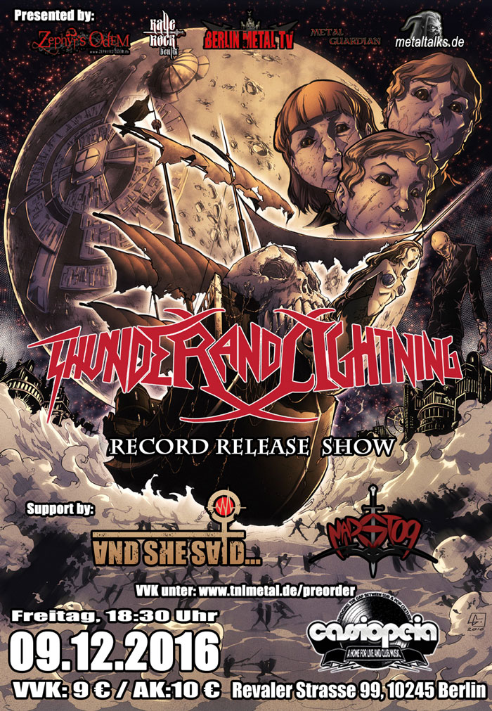 2016-12-09 - Thunder And Lightning - Record Release Show - Cassiopeia Berlin