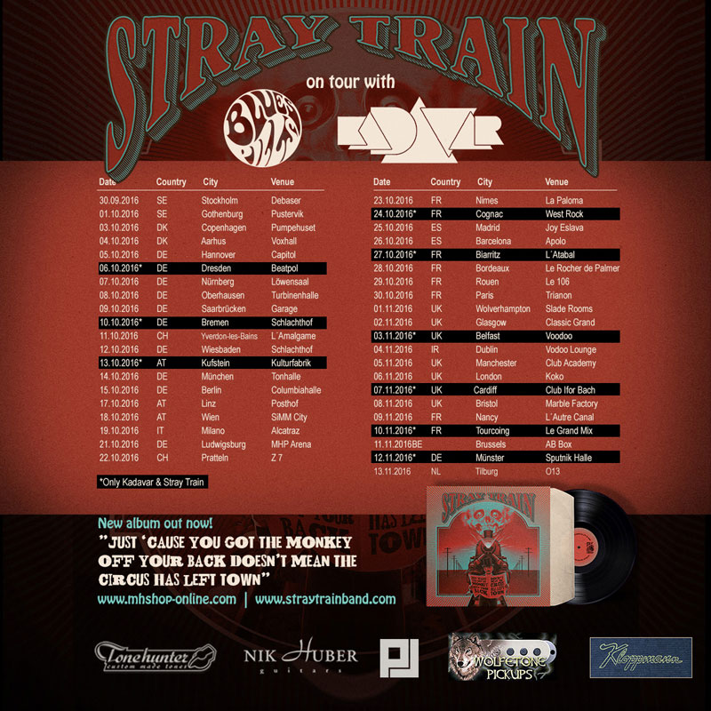 2016-10-15 Stray Train + Kadavar + Blues Pills - Berlin Columbia Halle