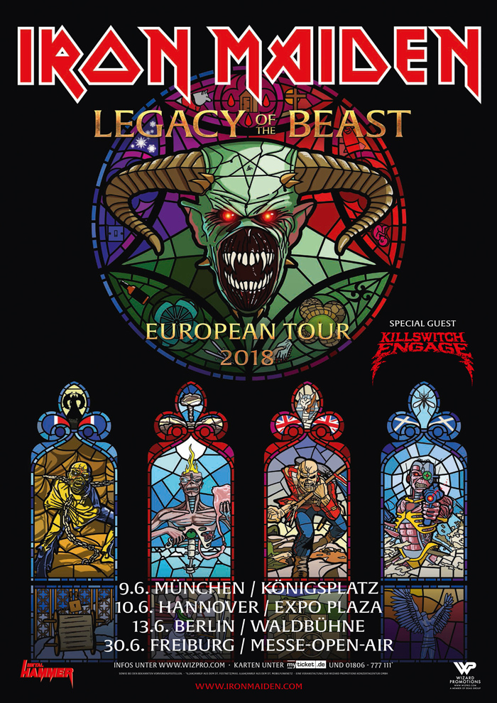 2018-06-09 Iron Maiden - Legacy Of The Beast European Tour 2018