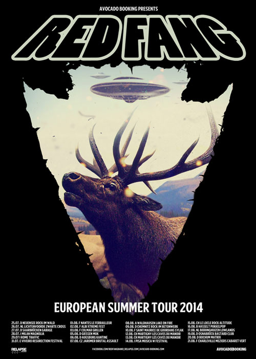 Red Fang Sommertour 2014