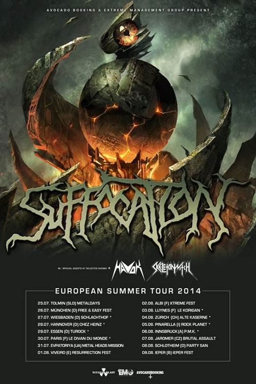 Suffocation Sommer Tour 2014